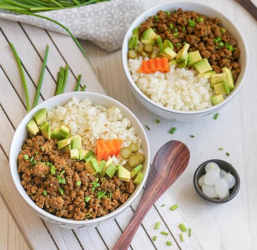 whole 30 recipe korean beef cauliflower bowl