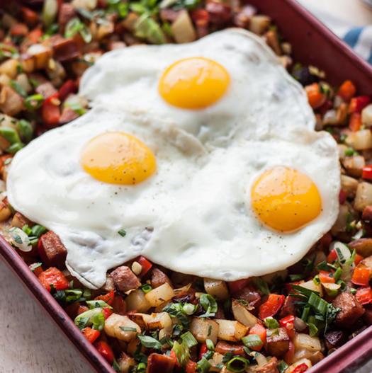 whole 30 recipe Potato Kielbasa Breakfast Hash