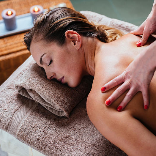 woman getting a massage for motivation for weight loss