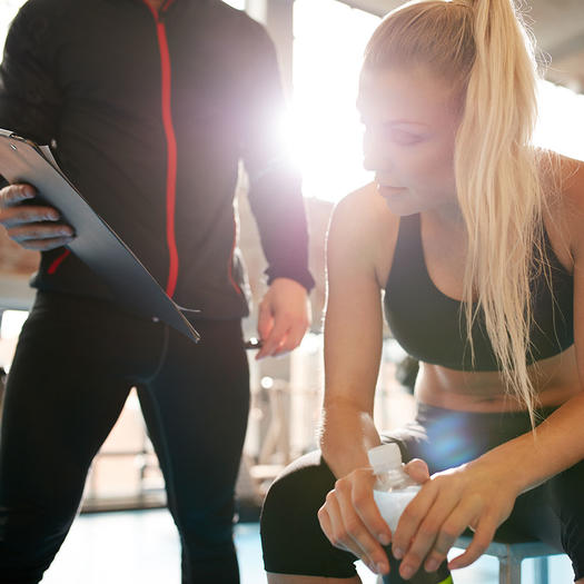 woman with business plan for fitness weight loss motivation