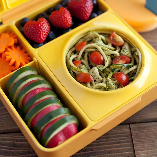 Chicken Pesto Zucchini Noodles Bento box idea
