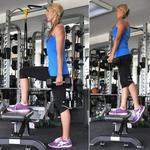 Dumbbell step-ups butt lift exercise