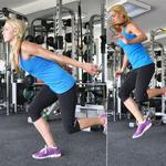 Single-legs jumps butt lift exercises