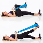 Lying Leg Extension resistance band leg exercise