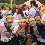 runners at color run with runners high