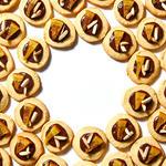 almond orange mendiant healthy holiday cookies