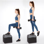 step ups butt lifting exercise