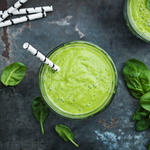 green vegetable smoothie with spinach and celery