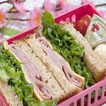 ham sandwich bento box idea