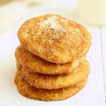 healthy holiday cookies Pumpkin Snickerdoodles with Ancient Grain Einkorn Flour