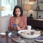 Jenna Dewan wearing crystal crown talking about crystal collection