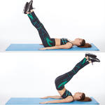 lower abs exercise crisscross lift and switch