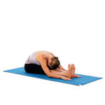 Seated Forward Fold stretch before bed yoga pose