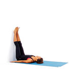 legs up the wall stretching before bed yoga pose