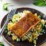 Moroccan Salmon & Apricot Couscous Salad recipe