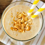 peanut butter banana protein smoothie shake post workout