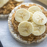 peanut butter banana rice cakes post workout snack