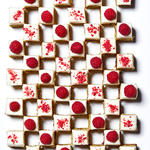 Pistachio-Raspberry Petits Fours healthy holiday cookies