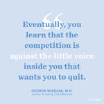 running motivation quotes george sheehan