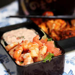 salmon shrimp bento box idea
