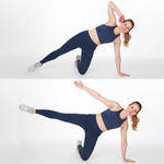 side crunch easy abs workout exercise