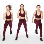 side shuffle switch thigh workout exercise