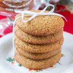Honey Cinnamon healthy holiday Cookies