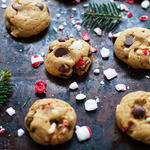 easy healthy peppermint dark chocolate holiday cookies