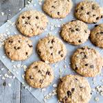 gluten-free Banana Oatmeal Chocolate Chip healthy holiday Cookies