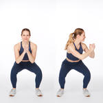squat with twist easy abs workout move