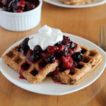 superfood vegan waffles recipe