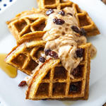 vegan carrot cake healthy waffles recipe