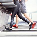 woman running treadmill workout