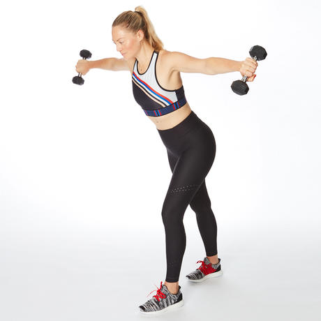 arm workout with weights dumbbell fly