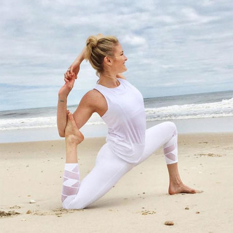 beach yoga pose for butt
