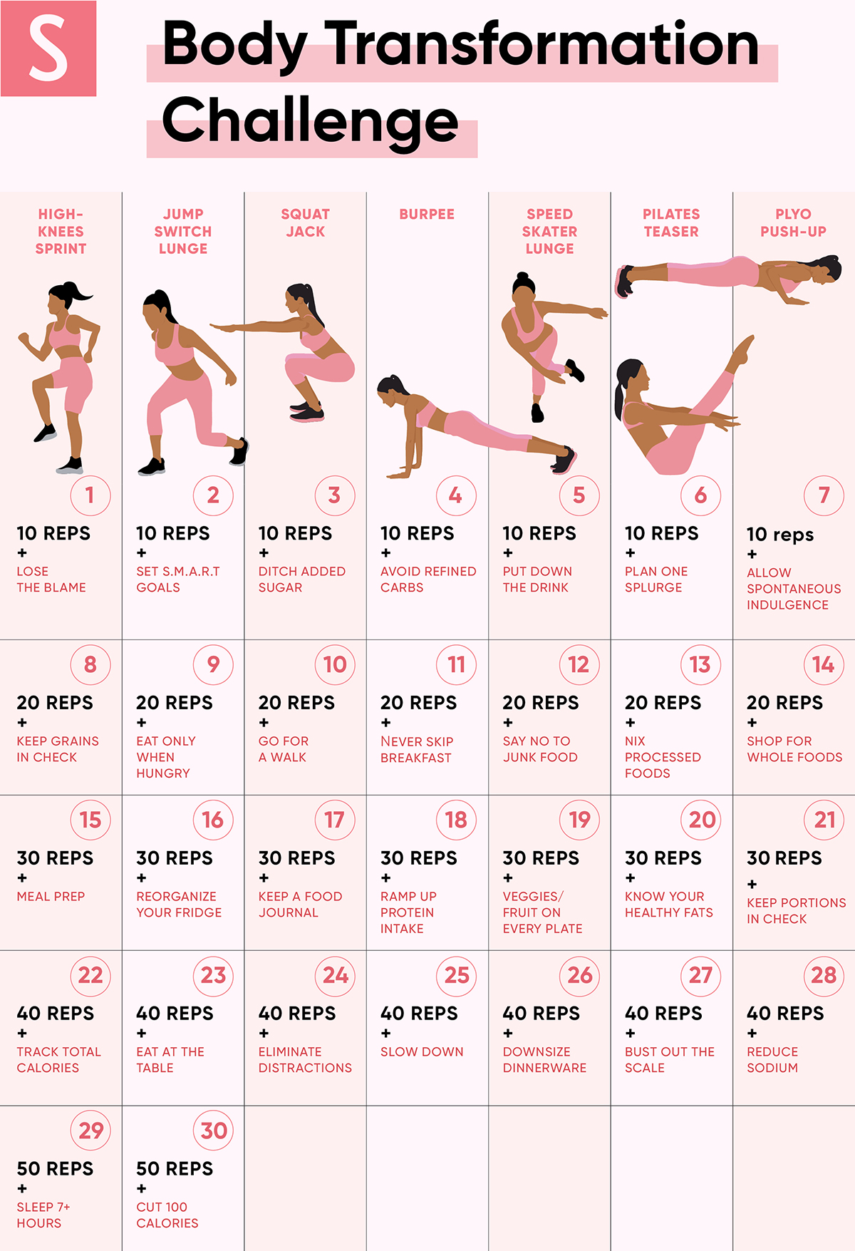 30 day diet and workout challenge